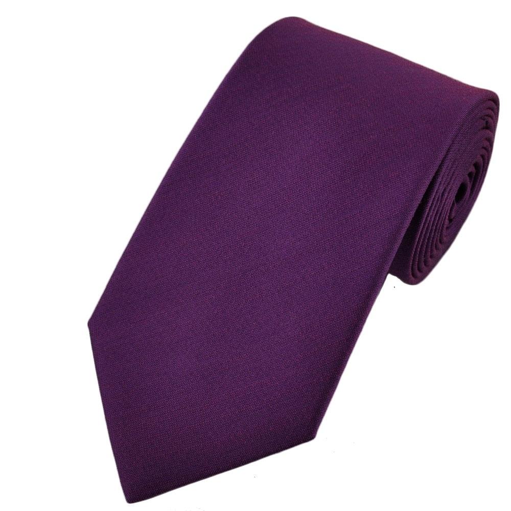 Plain Purple Tie From Ties Planet UK