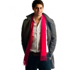 Plain Red 100% Wool Scarf