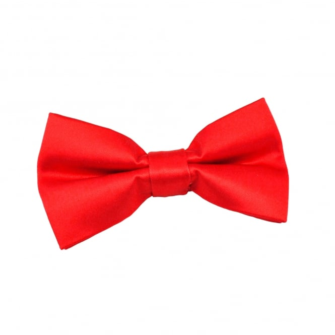 Plain Red Boys Bow Tie