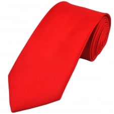 Plain Red Extra Long Tie