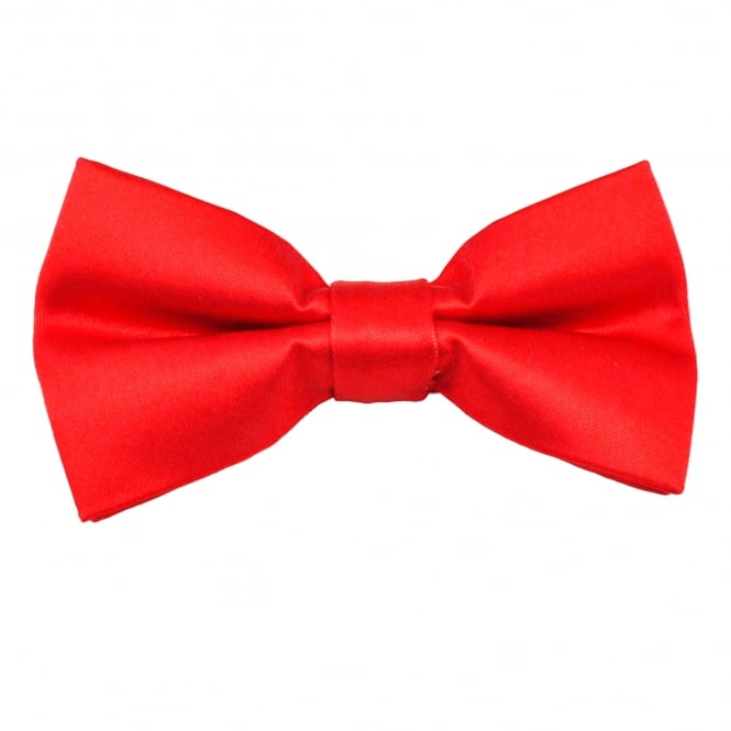 Plain Red Men's Bow Tie