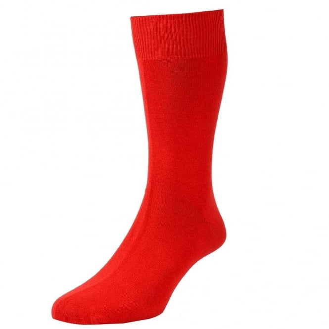 Plain Red Men's Socks by HJ Hall