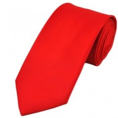 Plain Red Satin Tie