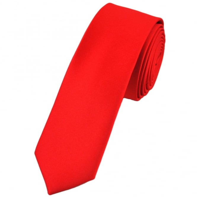 210c22884915 Plain Red Skinny Tie from Ties Planet UK