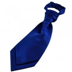 Plain Royal Blue Boys Scrunchie Wedding Cravat