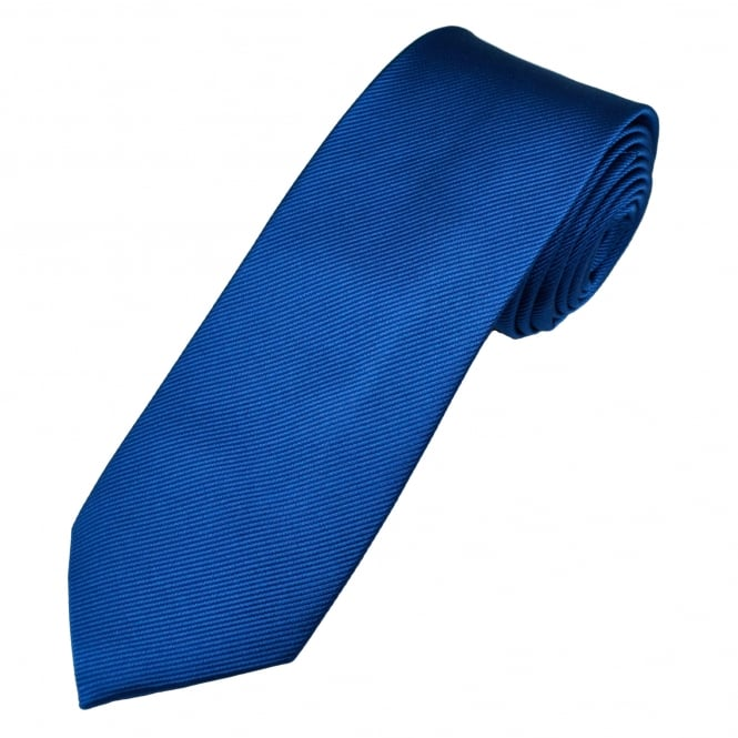 Plain Royal Blue Men's Silk Tie
