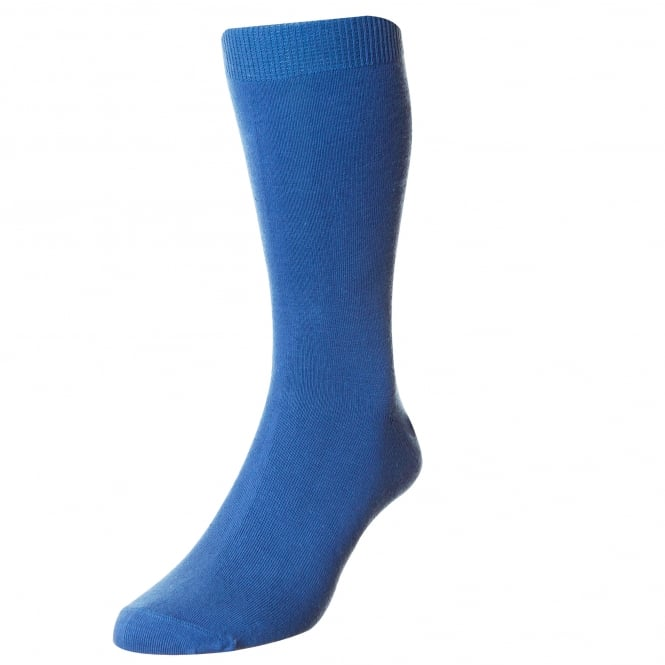 Plain Royal Blue Men's Socks by HJ Hall