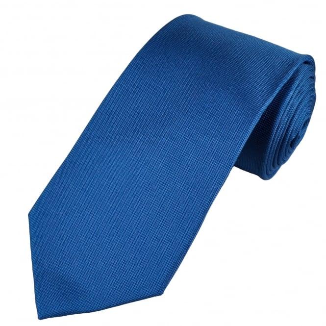 Plain Royal Blue Micro Woven Luxury Silk Tie From Ties