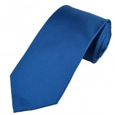 Plain Royal Blue Micro Woven Luxury Silk Tie