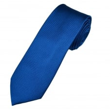 Plain Royal Blue Narrow Men's Silk Tie