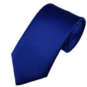 Plain Royal Blue Satin Tie