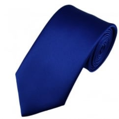 Plain Royal Blue Satin Tie
