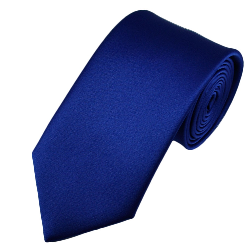 plain royal blue satin tie from ties planet uk