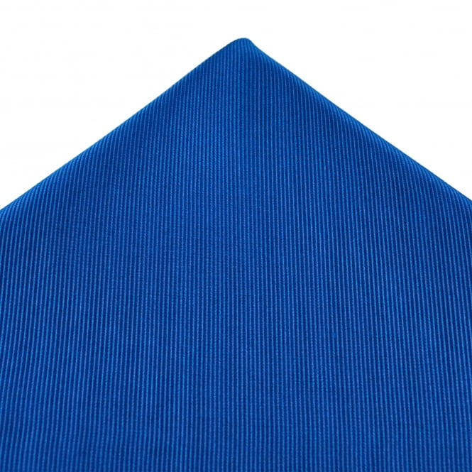 Plain Royal Blue Silk Pocket Square Handkerchief