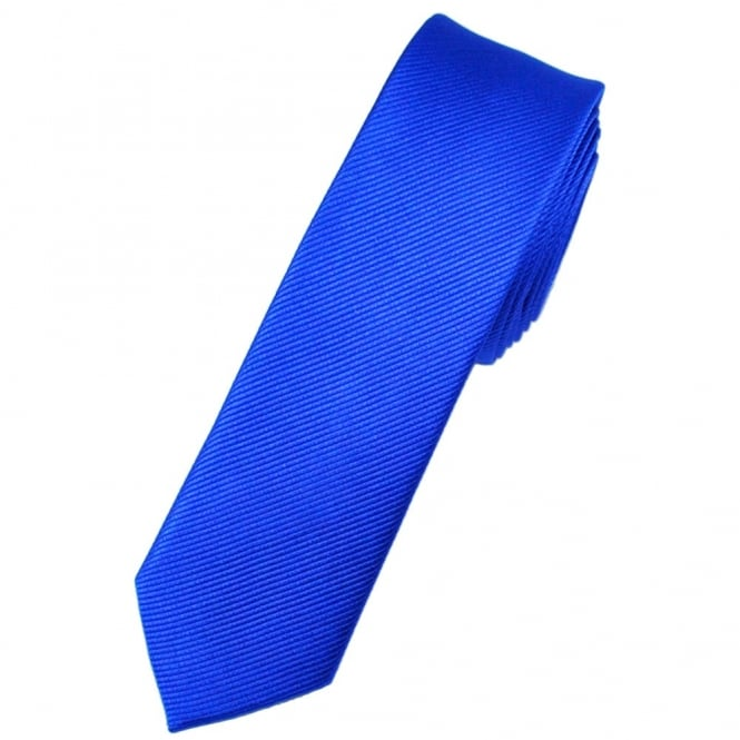 Plain Royal Blue Silk Skinny Tie