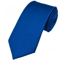 Plain Royal Blue Silk Tie