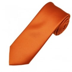 Plain Rust Orange Boys Tie