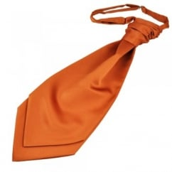 Plain Rust Orange Men's Scrunchie Wedding Cravat
