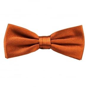 Plain Rust Orange Silk Bow Tie