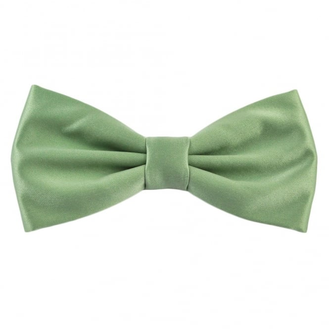 Plain Sage Green Bow Tie