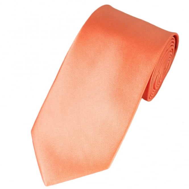 plain salmon pink satin tie from ties planet uk