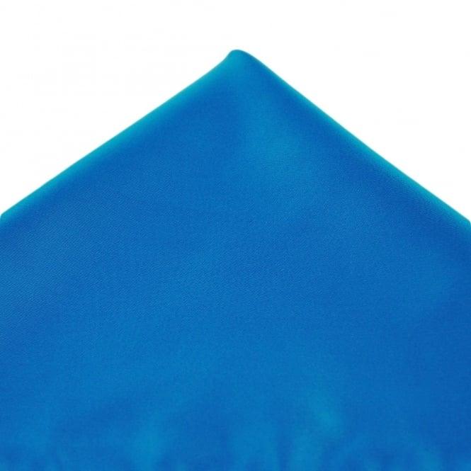 plain sapphire blue pocket square handkerchief
