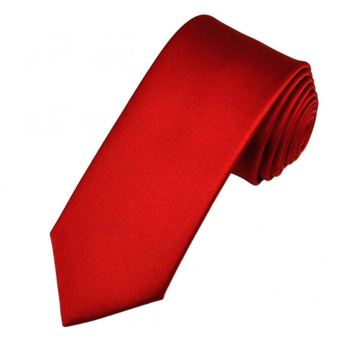 Plain Scarlet Red Boys Tie