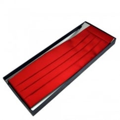 Plain Scarlet Red Cummerbund