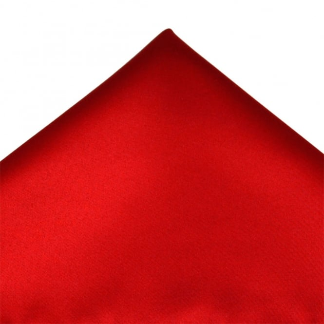 Plain Scarlet Red Pocket Square Handkerchief