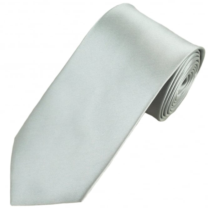 Plain Silver Extra Long Tie