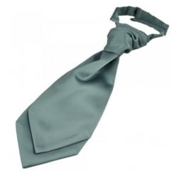 Plain Silver-Grey Boys Scrunchie Wedding Cravat