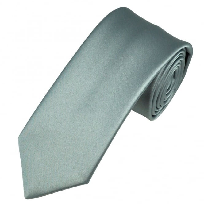 Plain Silver-Grey Boys Tie