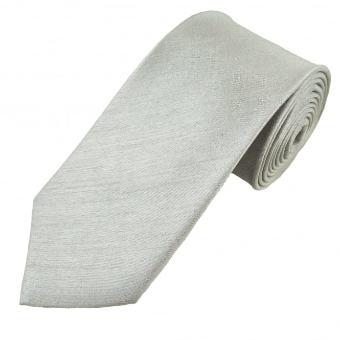 Plain Silver Grey Men's Tie