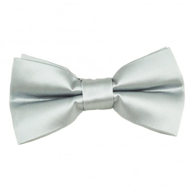 Plain Silver Men's Bow Tie