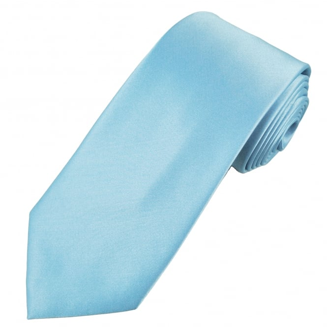Plain Sky Blue Men's Tie