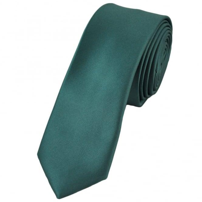 plain slate blue skinny tie