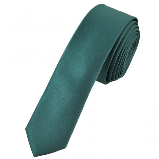 Plain Slate Blue Super Skinny Tie