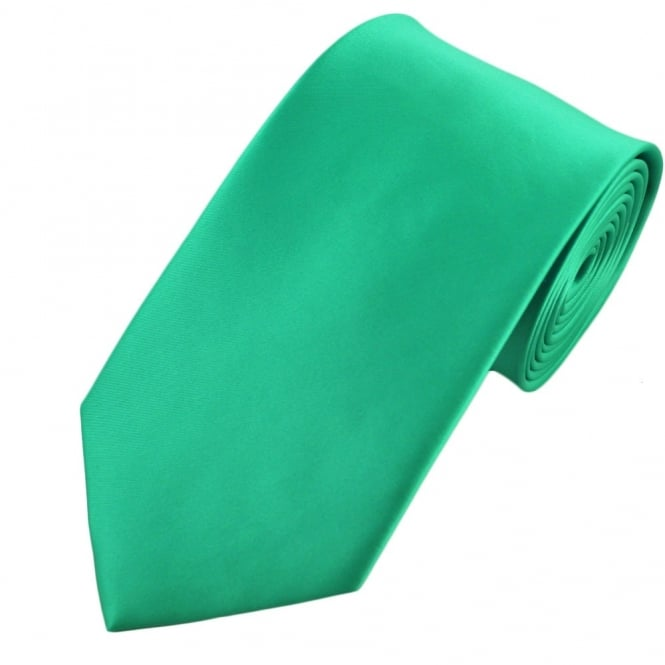 Plain Spearmint Green Satin Tie