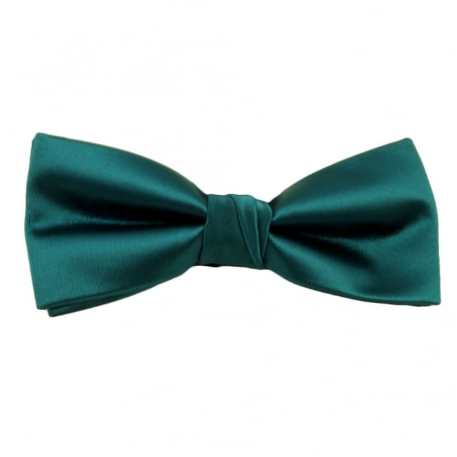 Plain Teal Green Bow Tie