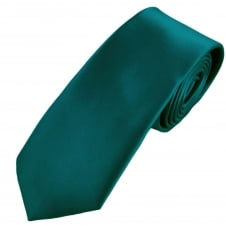 Plain Teal Green Extra Long Tie