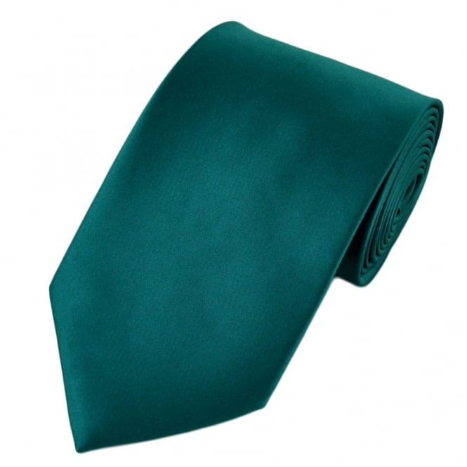 Plain Teal Green Satin Tie