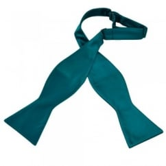 Plain Teal Green Self Tie Bow Tie