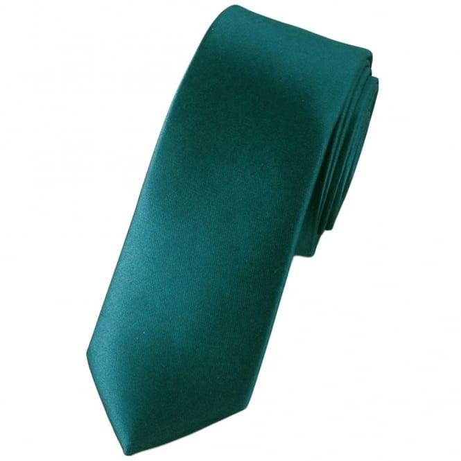 60857dae091c Plain Teal Green Skinny Tie from Ties Planet UK