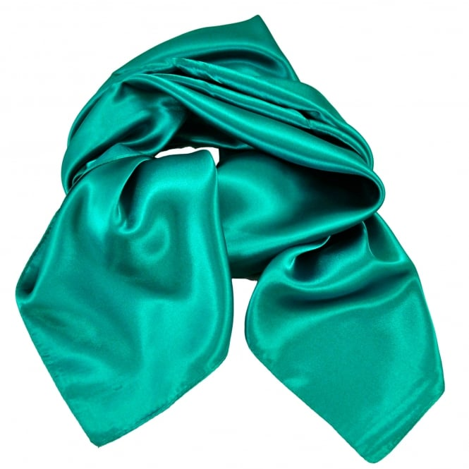 Plain Teal Satin Scarf
