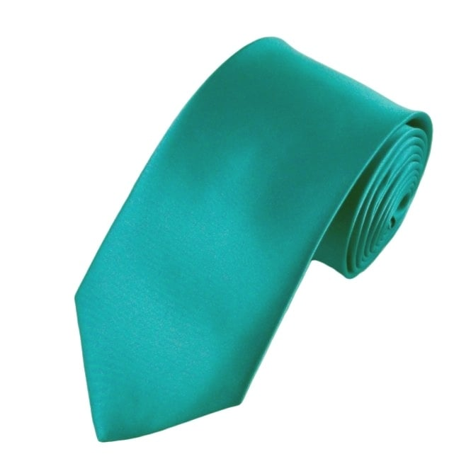 351df911494a Plain Turquoise Satin Tie from Ties Planet UK