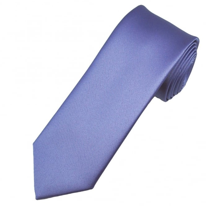 Plain Violet Purple Boys Tie