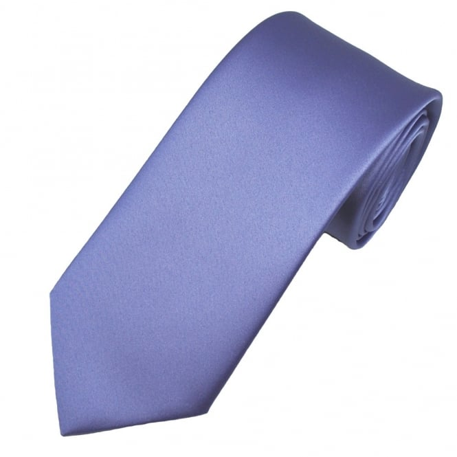 Plain Violet Purple Men's Satin Tie