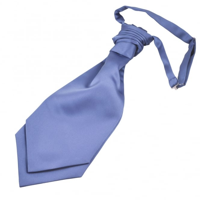 Plain Violet Purple Men's Scrunchie Wedding Cravat