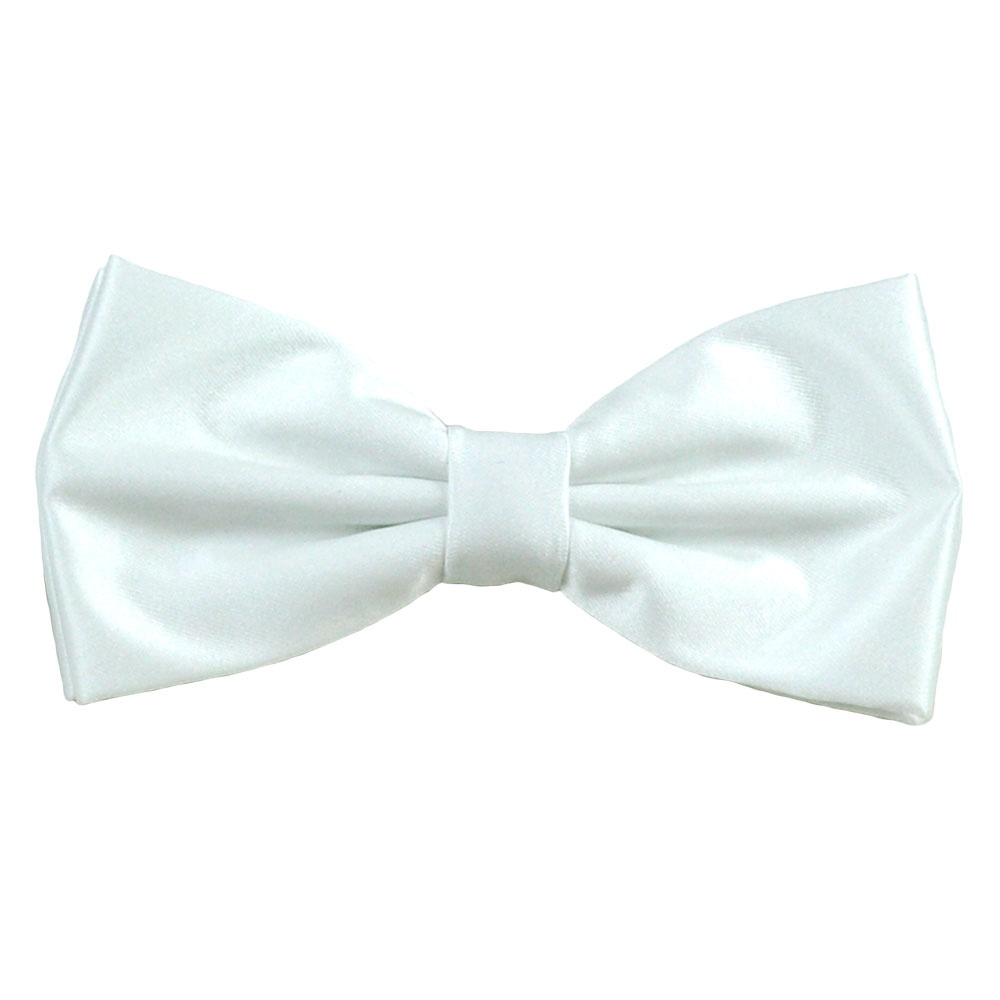 plain white bow tie from ties planet uk