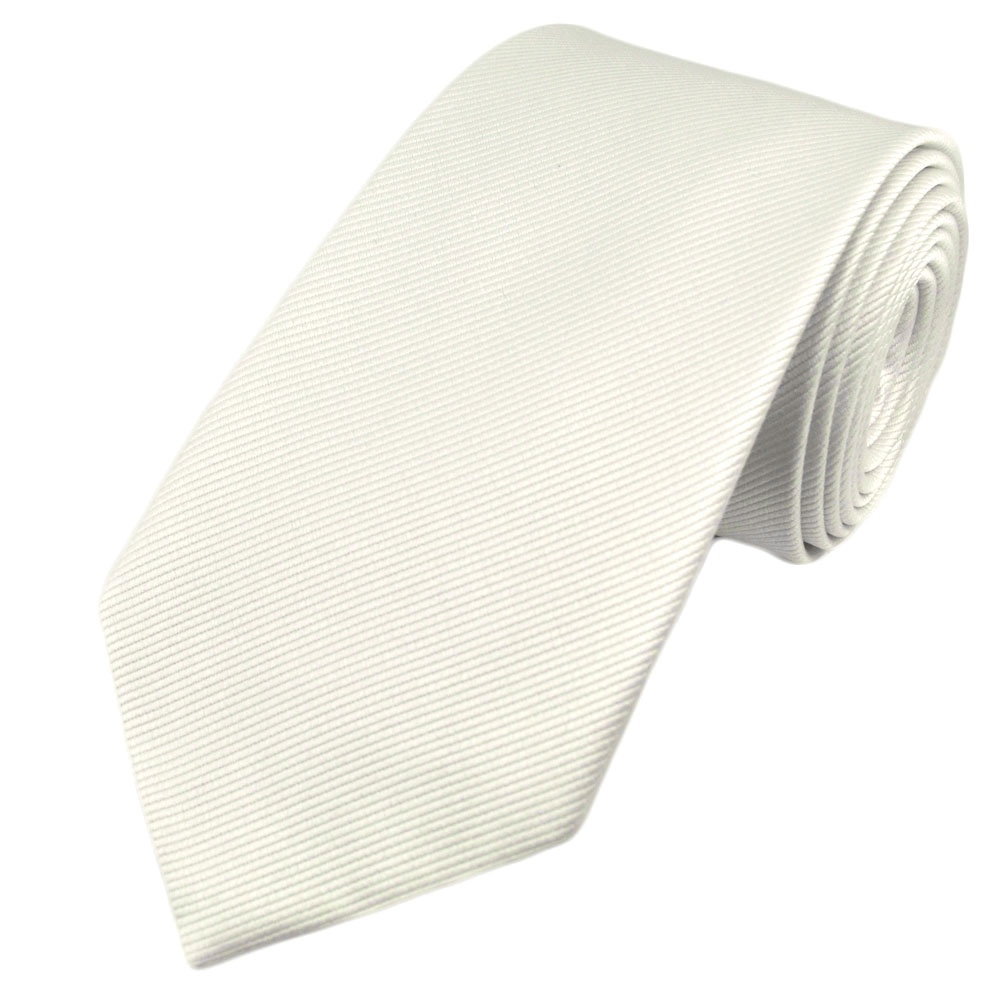 plain white silk tie from ties planet uk